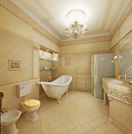 Baño de lujo vintage